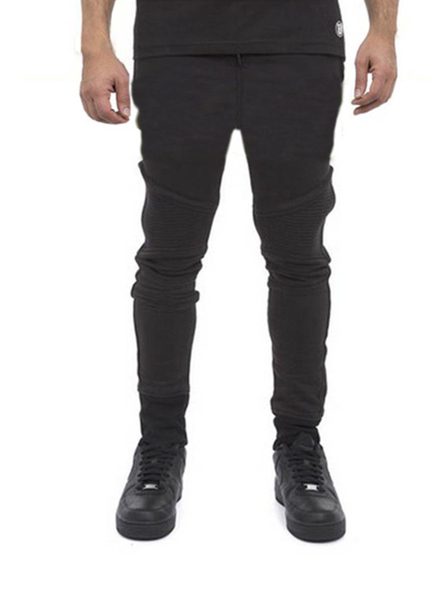 New Spring Full Length Plain Straight Mens Casual Pants