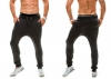 Full Length Cotton Blends Loose Men's Casual Pants